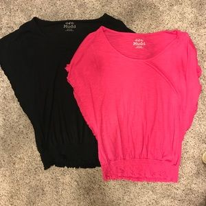 Pair of Mudd tops